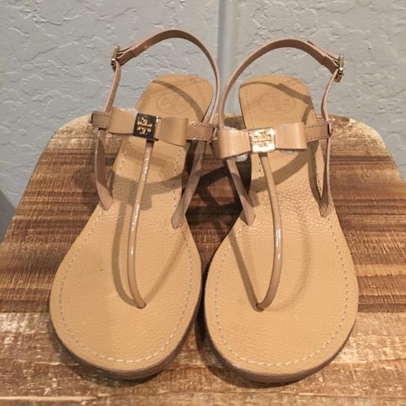 d9b1c2c19f5a Tory Burch Kailey Wedge Thong sandals. M 5a4aeb6b85e605fe2306cd25